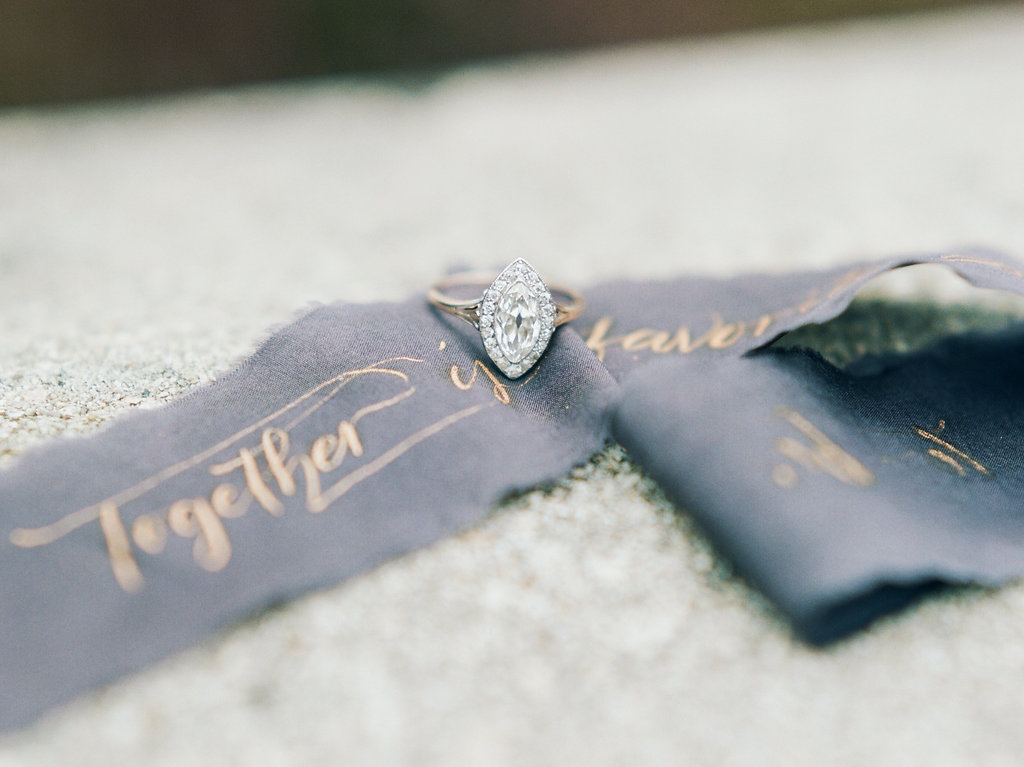 pear shaped engagement rings - photo by Lissa Ryan Photography http://ruffledblog.com/modern-romantic-wedding-ideas-with-family-heirlooms
