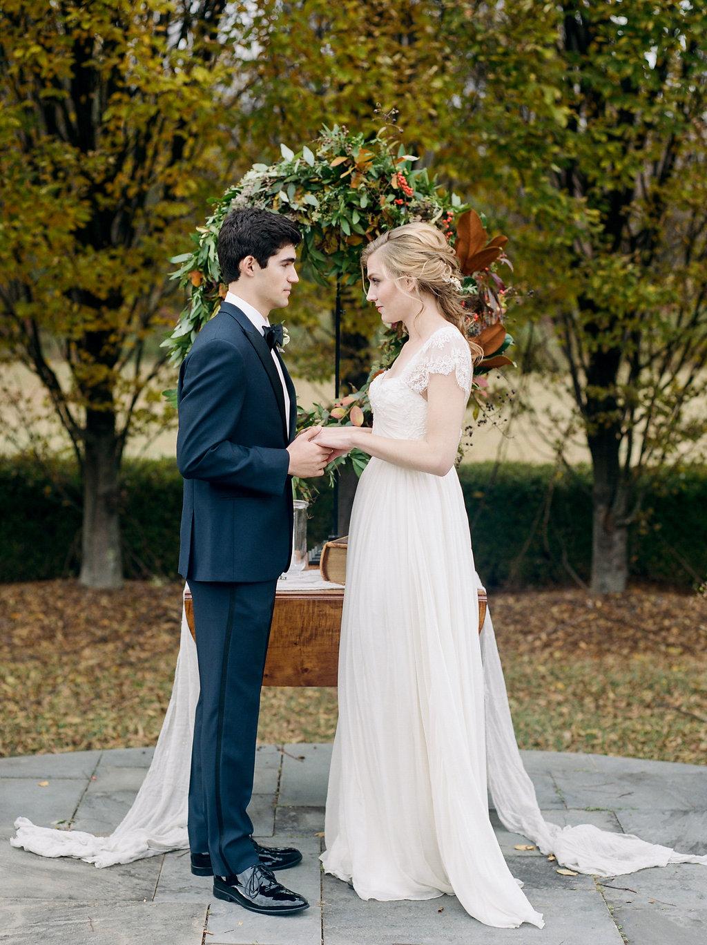 wedding ceremonies - photo by Lissa Ryan Photography http://ruffledblog.com/modern-romantic-wedding-ideas-with-family-heirlooms