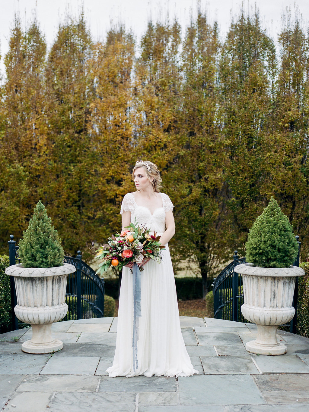 bridal fashion - photo by Lissa Ryan Photography https://ruffledblog.com/modern-romantic-wedding-ideas-with-family-heirlooms