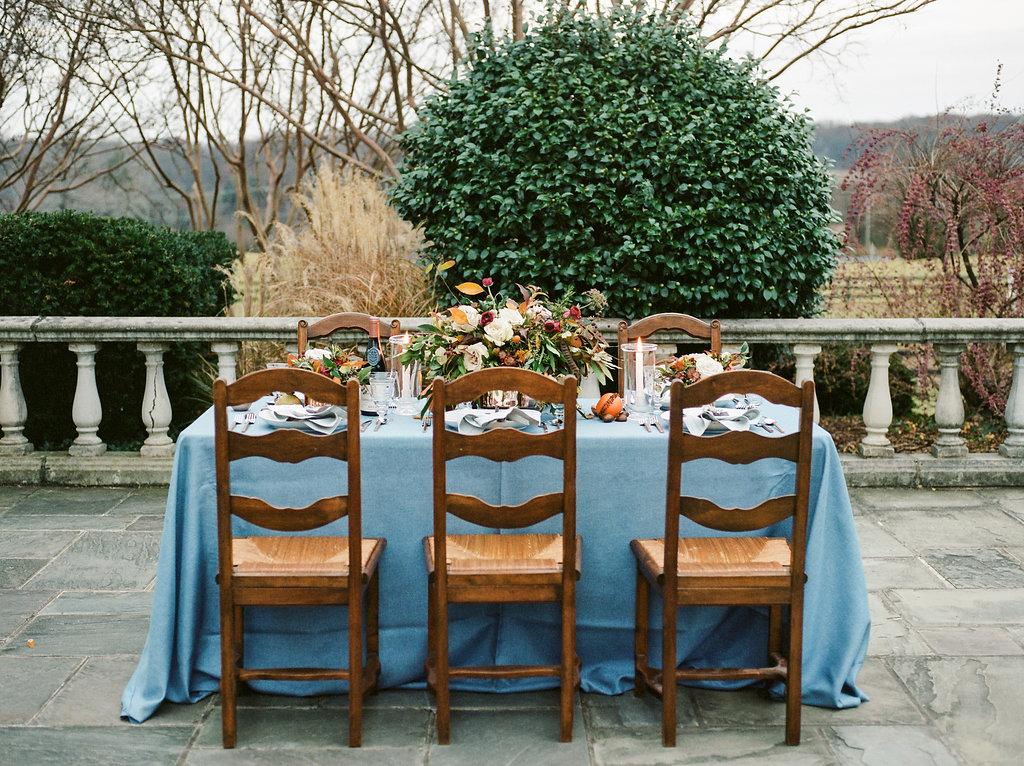 romantic wedding tables - photo by Lissa Ryan Photography http://ruffledblog.com/modern-romantic-wedding-ideas-with-family-heirlooms