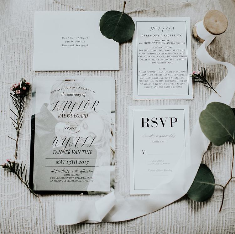 Modern Rustic Winery Wedding at Basel Cellars Ruffled – Modern Rustic Wedding Invitations