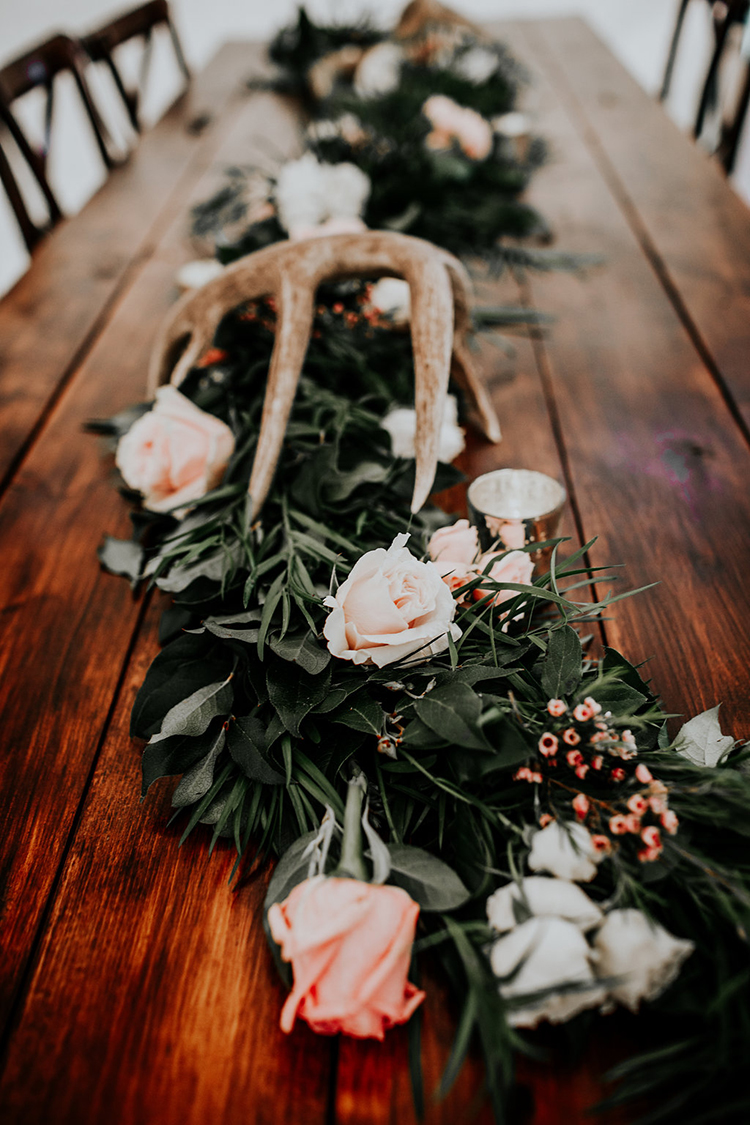rustic tablescapes - photo by Alex Lasota Photography https://ruffledblog.com/modern-rustic-winery-wedding-at-basel-cellars