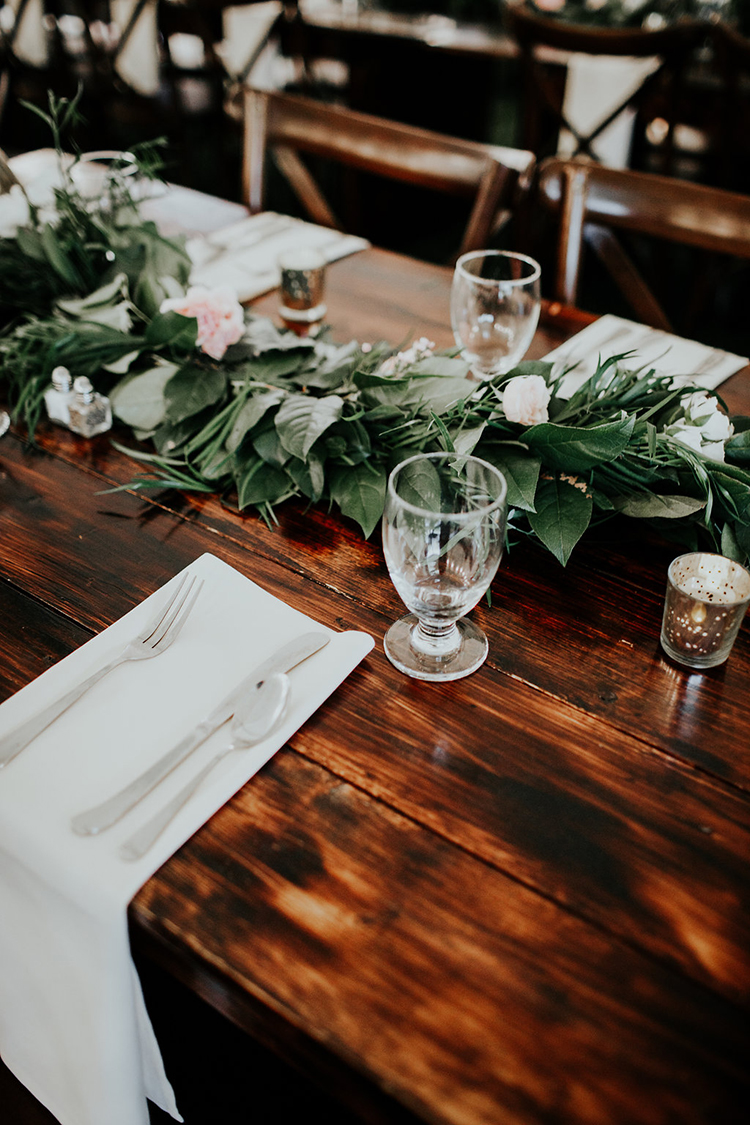 rustic tablescapes - photo by Alex Lasota Photography http://ruffledblog.com/modern-rustic-winery-wedding-at-basel-cellars