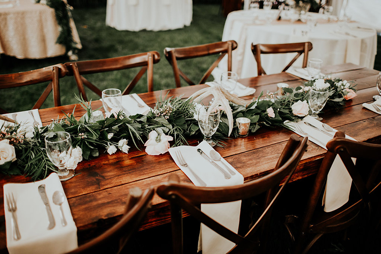 wedding tables - photo by Alex Lasota Photography http://ruffledblog.com/modern-rustic-winery-wedding-at-basel-cellars