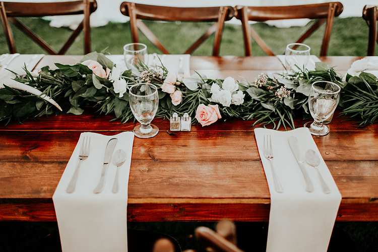 rustic tables - photo by Alex Lasota Photography http://ruffledblog.com/modern-rustic-winery-wedding-at-basel-cellars