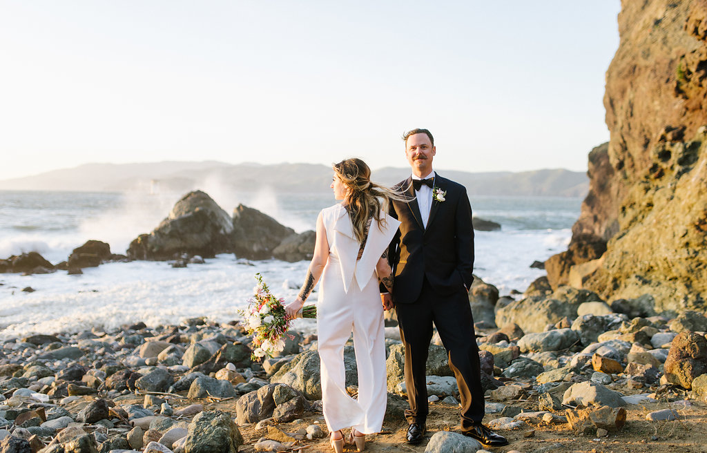 Modern San Francisco Winery Elopement - photo by Chelsea Dier Photography http://ruffledblog.com/modern-san-francisco-winery-elopement
