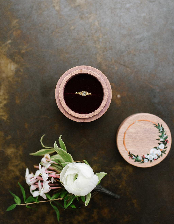 wedding day details - photo by Chelsea Dier Photography https://ruffledblog.com/modern-san-francisco-winery-elopement