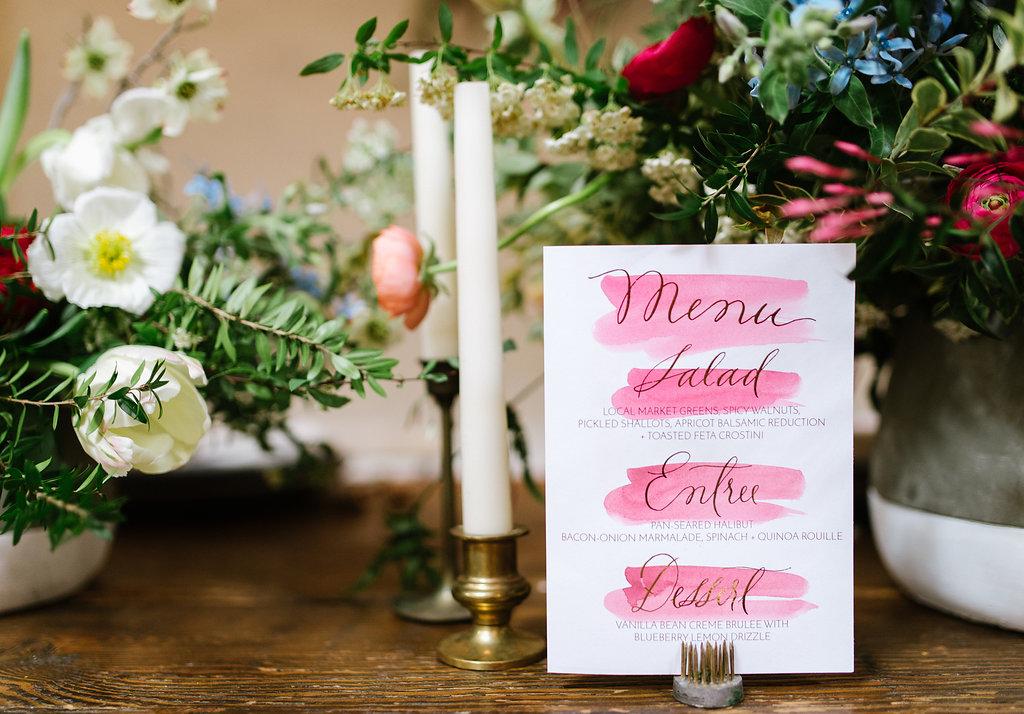 wedding paper goods - photo by Chelsea Dier Photography https://ruffledblog.com/modern-san-francisco-winery-elopement