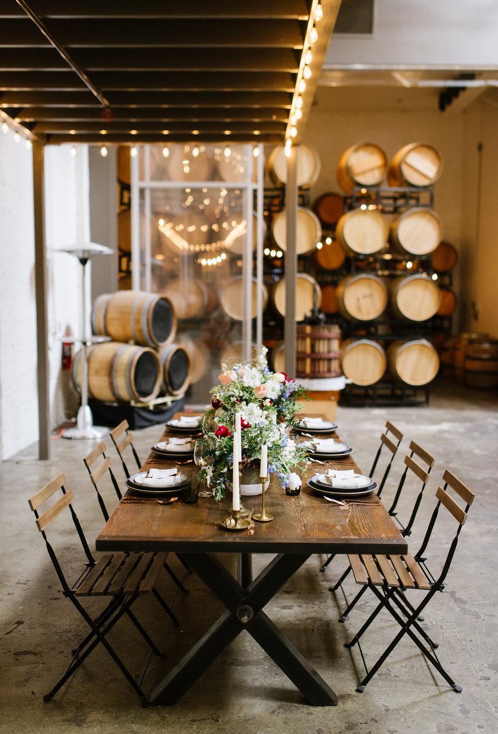 winery weddings - photo by Chelsea Dier Photography https://ruffledblog.com/modern-san-francisco-winery-elopement