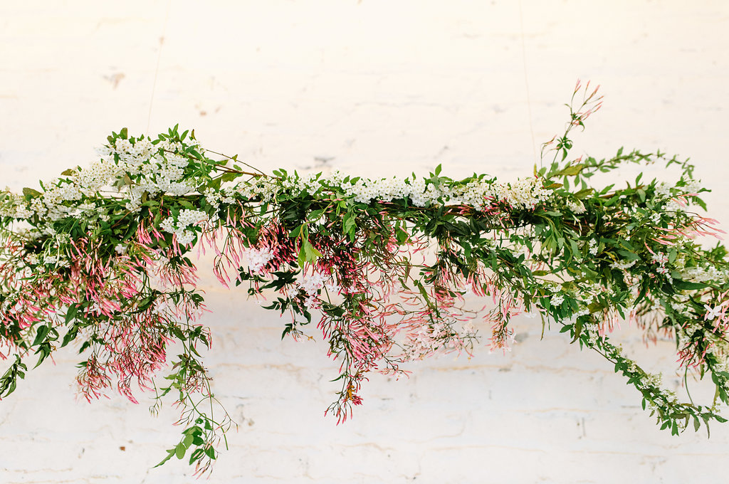wedding floral decor - photo by Chelsea Dier Photography http://ruffledblog.com/modern-san-francisco-winery-elopement
