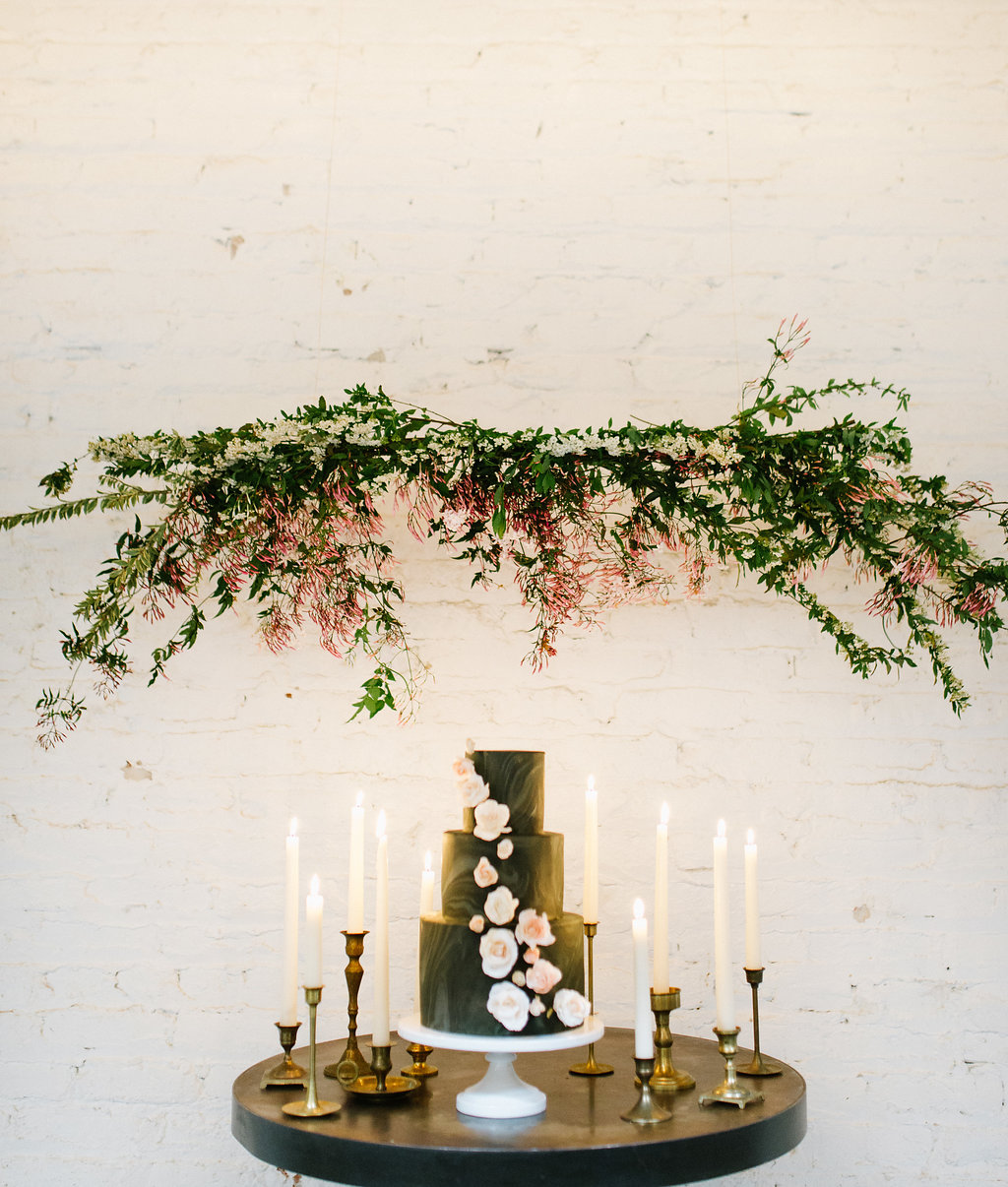 cake tables - photo by Chelsea Dier Photography https://ruffledblog.com/modern-san-francisco-winery-elopement