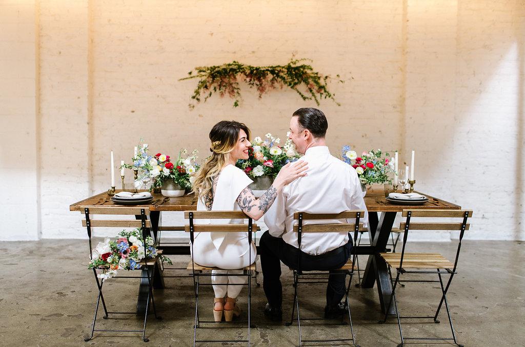 boho wedding decor - photo by Chelsea Dier Photography https://ruffledblog.com/modern-san-francisco-winery-elopement