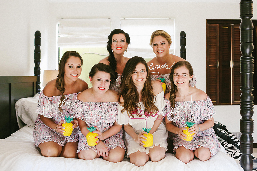 bridesmaid portraits - photo by W and E Photographie http://ruffledblog.com/costa-rica-destination-wedding-with-lots-of-tropical-details