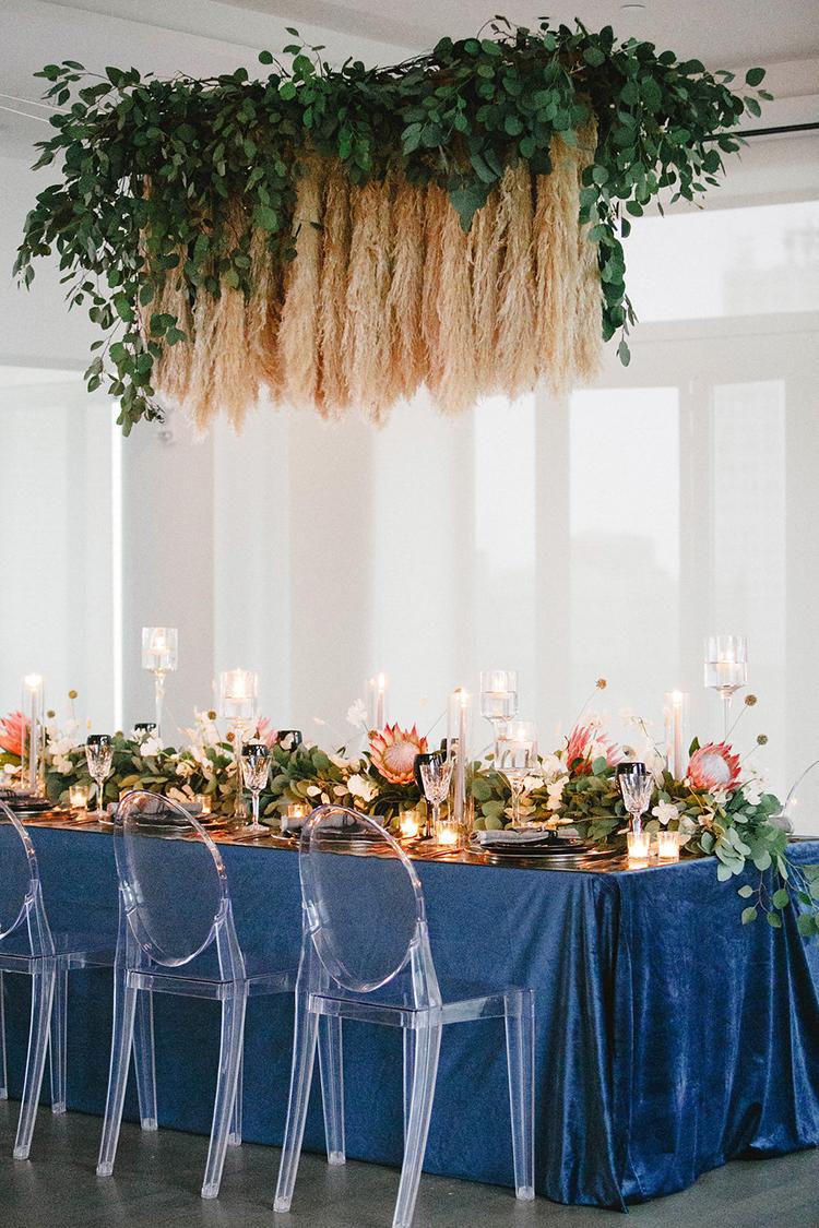 modern-wedding-inspiration-with-a-pampas-grass-chandelier-18