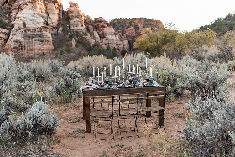 desert weddings - photo by Courtney Hanson Photography https://ruffledblog.com/moody-romantic-zion-national-park-wedding-ideas