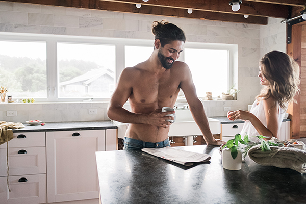 Sexy Kitchen Engagement Session