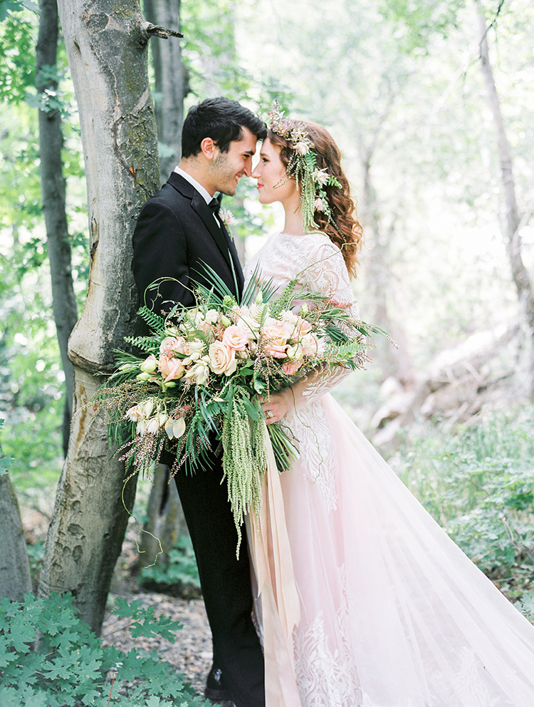 Moss-Covered Fairyland Wedding Inspiration - https://ruffledblog.com/moss-covered-fairyland-wedding-inspiration