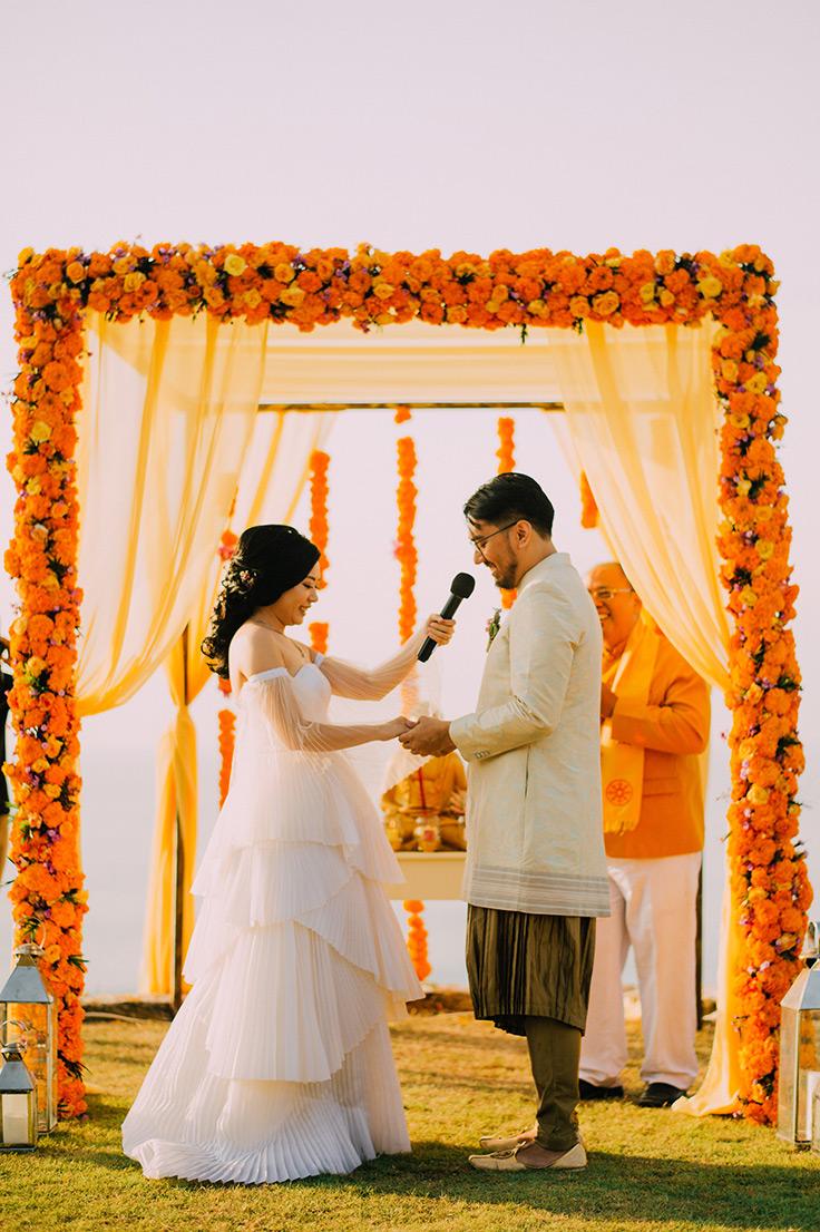 Colorful Multicultural Wedding in Bali #bali #wedding #destinationwedding see more: https://ruffledblog.com/multicultural-wedding-bali