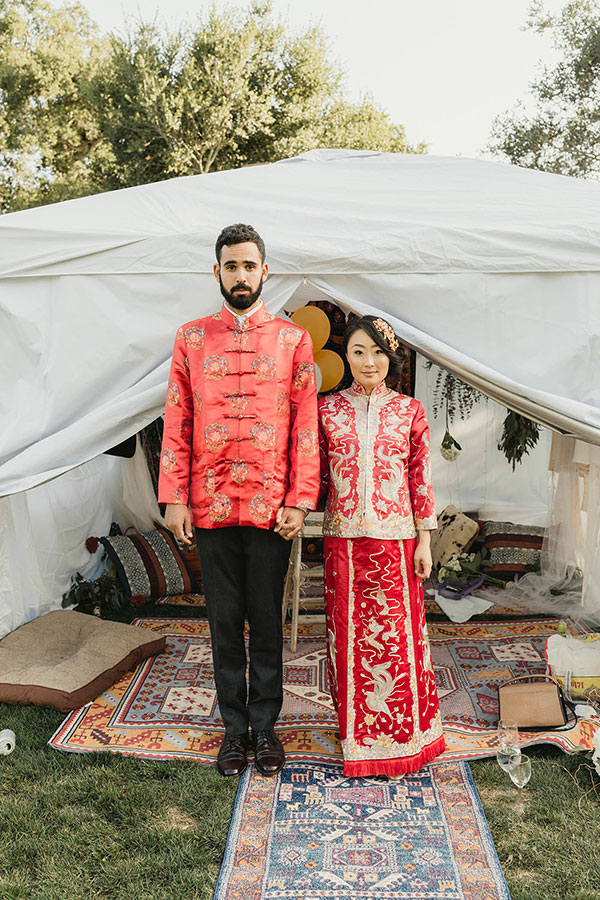This Couple's Rescue Dog Delivered the Rings #california #weddingideas #multiculturalwedding see more: https://ruffledblog.com/multicultural-santa-barbara-wedding