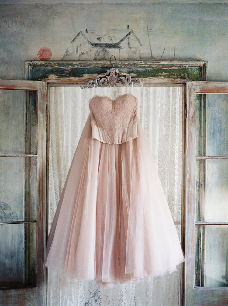 blush wedding dresses - photo by Greer Gattuso https://ruffledblog.com/new-orleans-wedding-with-the-cutest-woodland-details