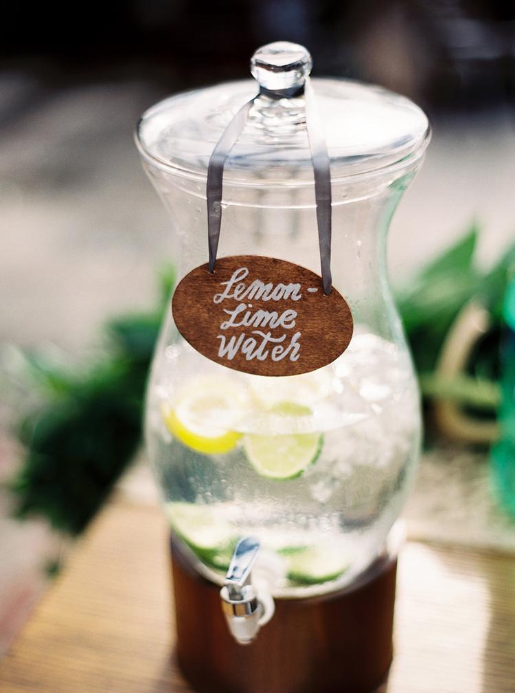 refreshing wedding drinks - photo by Greer Gattuso https://ruffledblog.com/new-orleans-wedding-with-the-cutest-woodland-details