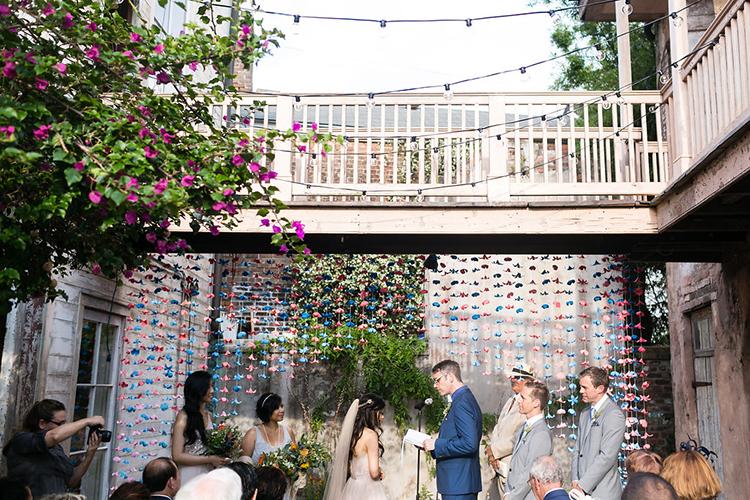 wedding ceremonies - photo by Greer Gattuso https://ruffledblog.com/new-orleans-wedding-with-the-cutest-woodland-details