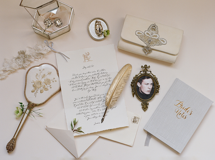 wedding day paper goods - photo by Julie Michaelsen Photography http://ruffledblog.com/old-world-london-wedding-inspiration-with-delicate-details