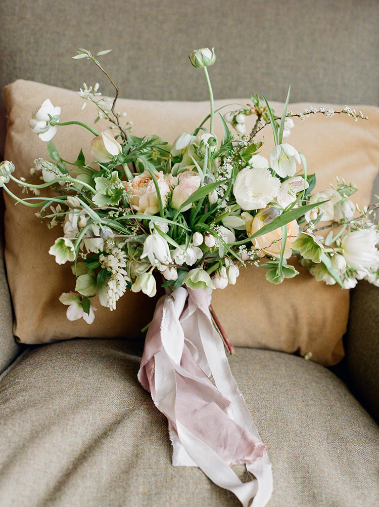 whimsical spring bouquets - photo by Julie Michaelsen Photography https://ruffledblog.com/old-world-london-wedding-inspiration-with-delicate-details