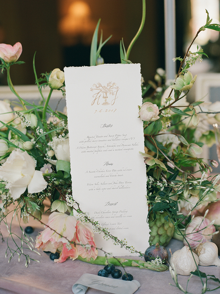wedding paper goods - photo by Julie Michaelsen Photography https://ruffledblog.com/old-world-london-wedding-inspiration-with-delicate-details
