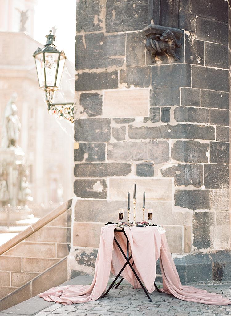 soft pink wedding inspiration - photo by Arte de Vie http://ruffledblog.com/old-world-romance-wedding-inspiration-in-prague