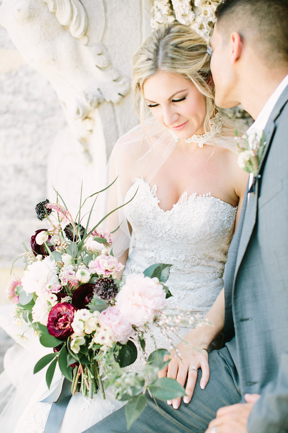 romantic wedding inspiration - photo by Erica J Photography https://ruffledblog.com/old-world-wedding-editorial-at-vizcaya-museum