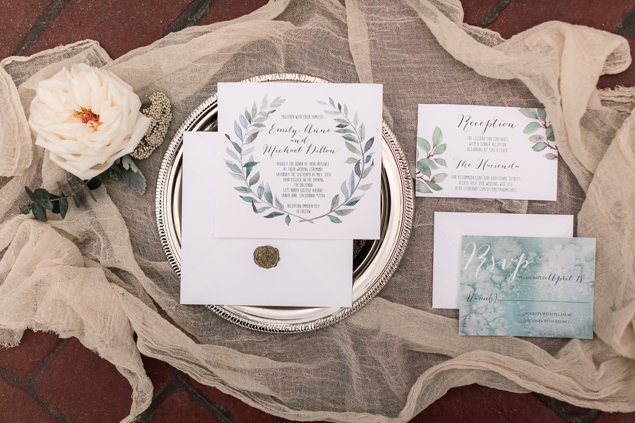 rustic inspired wedding invitations - photo by B.Matthews Creative https://ruffledblog.com/organic-italian-inspired-wedding-ideas