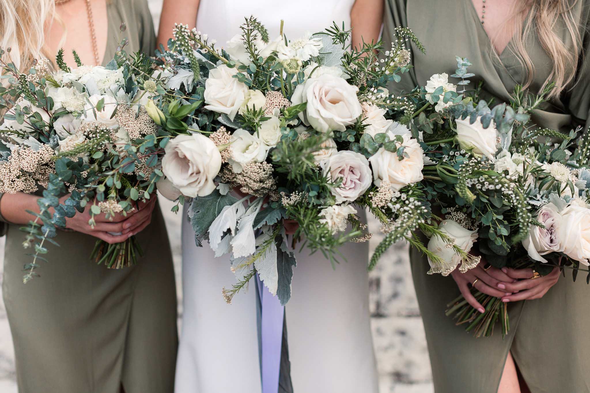 wedding bouquets - photo by B.Matthews Creative https://ruffledblog.com/organic-italian-inspired-wedding-ideas
