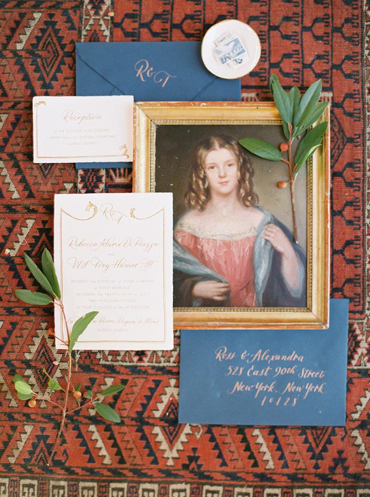 wedding invitations - photo by Kara Miller https://ruffledblog.com/organic-romantic-wedding-inspiration
