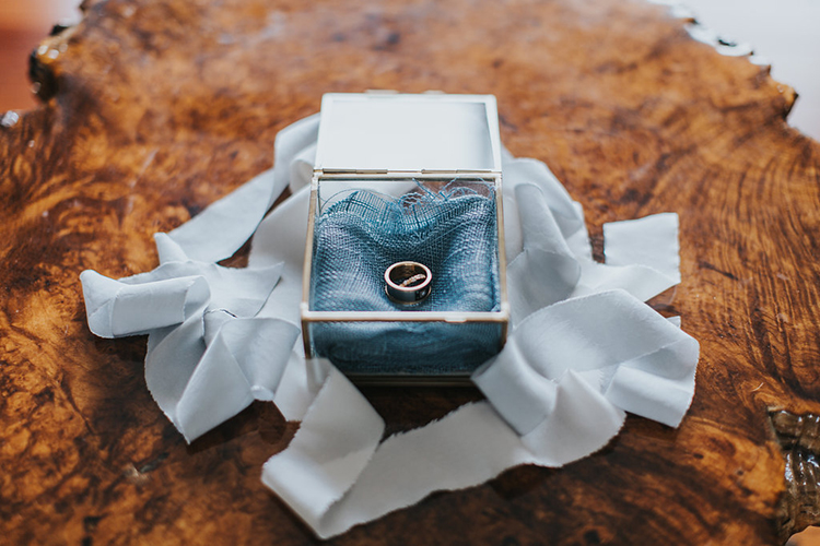wedding ring boxes - photo by Rivkah Photography https://ruffledblog.com/pacific-northwest-wedding-with-a-secret-waterfall