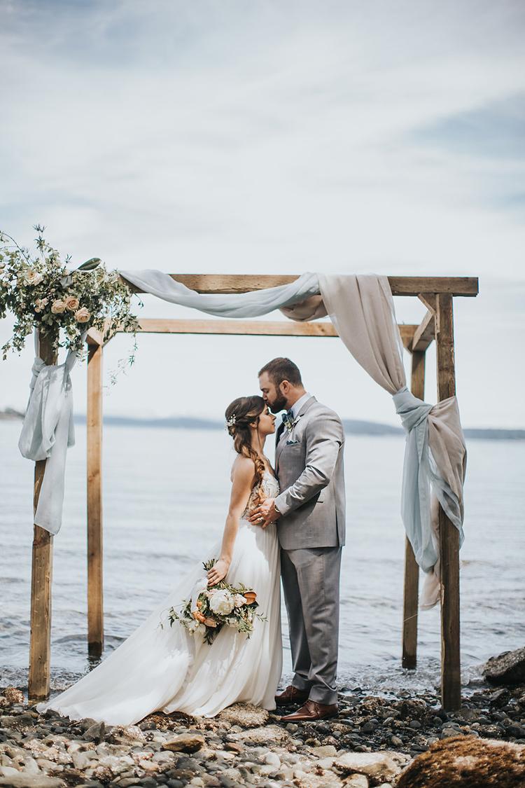 beach weddings - photo by Rivkah Photography https://ruffledblog.com/pacific-northwest-wedding-with-a-secret-waterfall