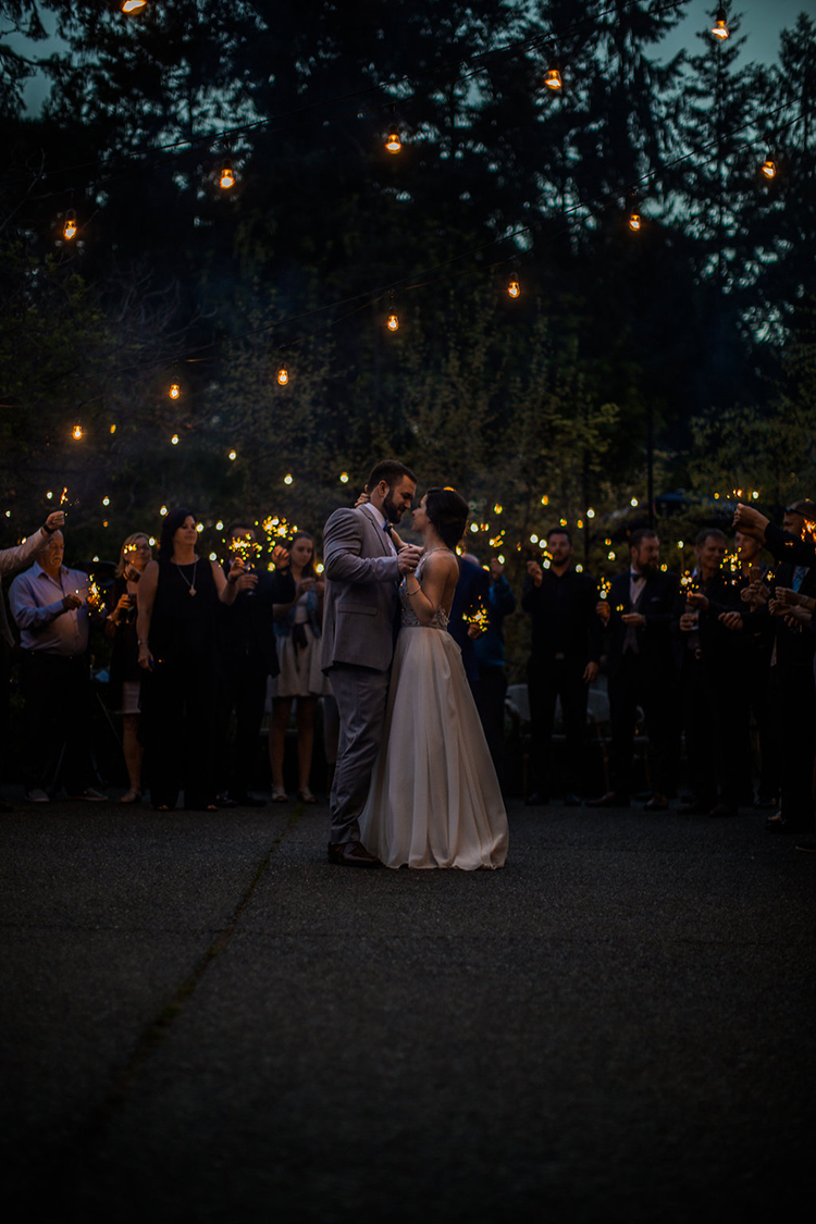 wedding first dances - photo by Rivkah Photography https://ruffledblog.com/pacific-northwest-wedding-with-a-secret-waterfall