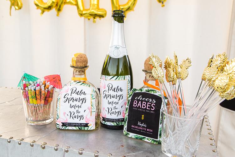 wedding drinks - photo by Ashley LaPrade Photography http://ruffledblog.com/palm-springs-bachelorette-party-weekend-getaway