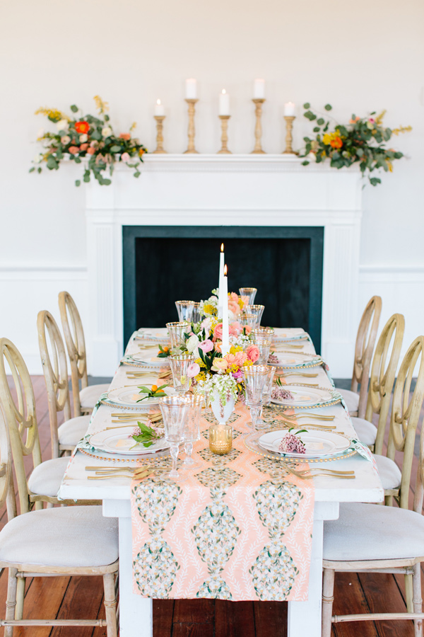 Peach and Gold Southern Wedding Ideas Ruffled