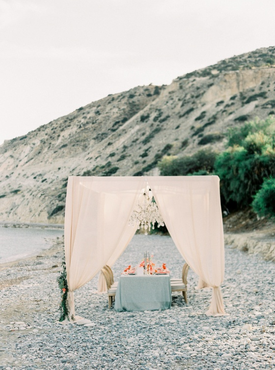 Pebbled Coast Wedding Inspiration with Bright Pops of Citrus