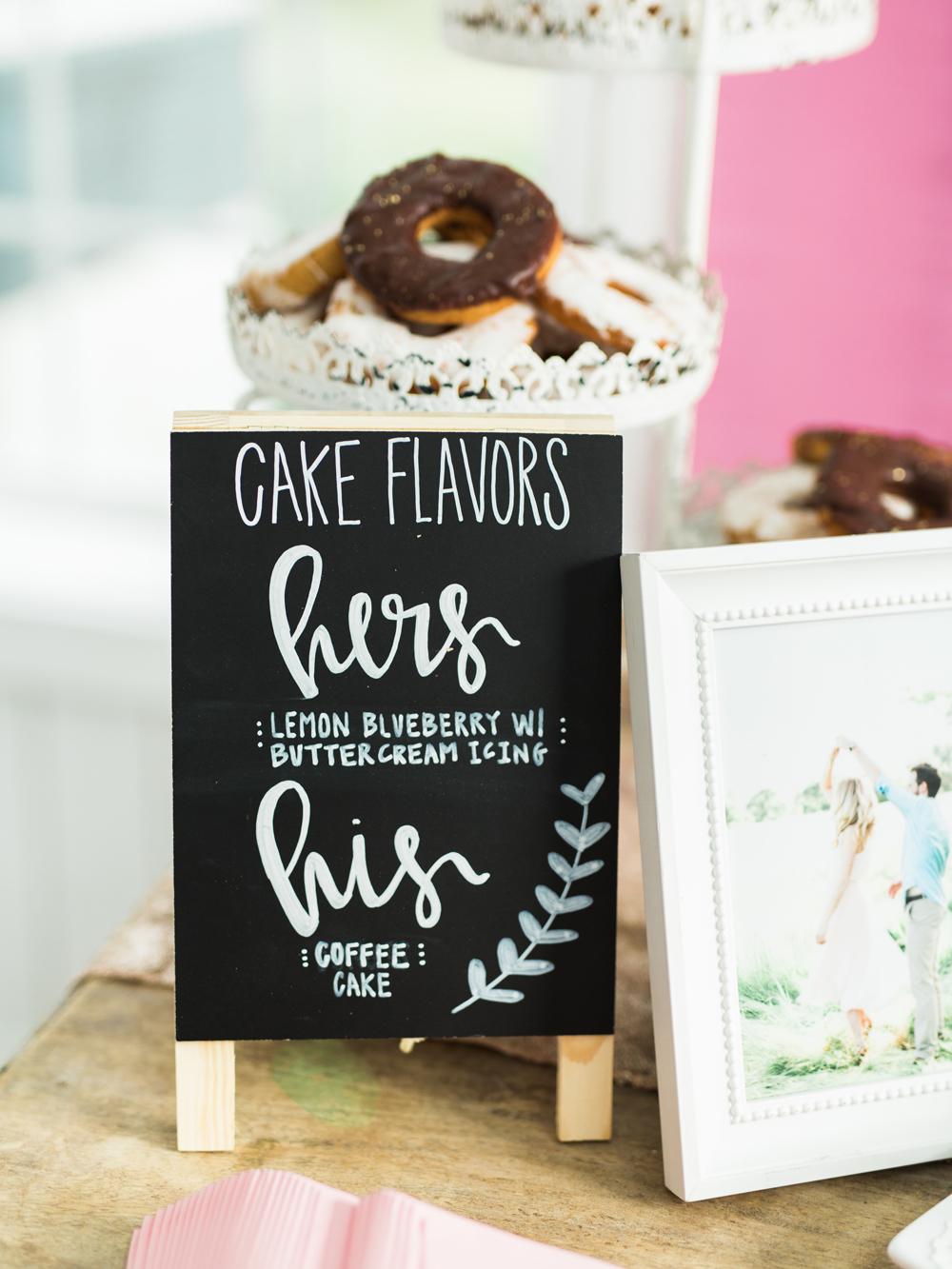 wedding cake flavors - photo by Elisabeth Carol Photography http://ruffledblog.com/picturesque-garden-wedding-at-white-sparrow-barn