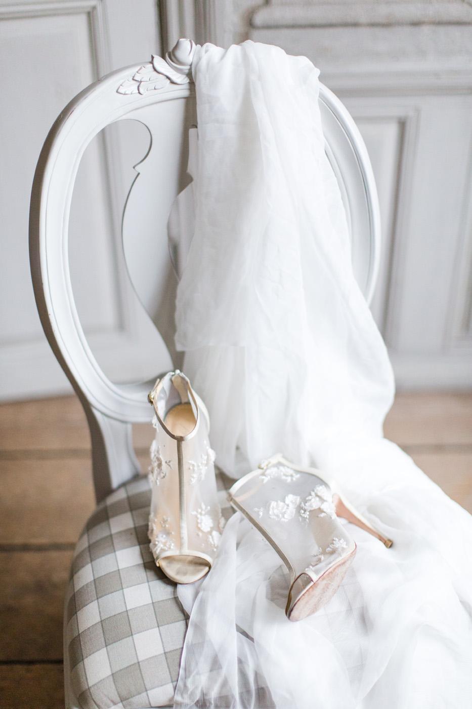 sheer bridal heels