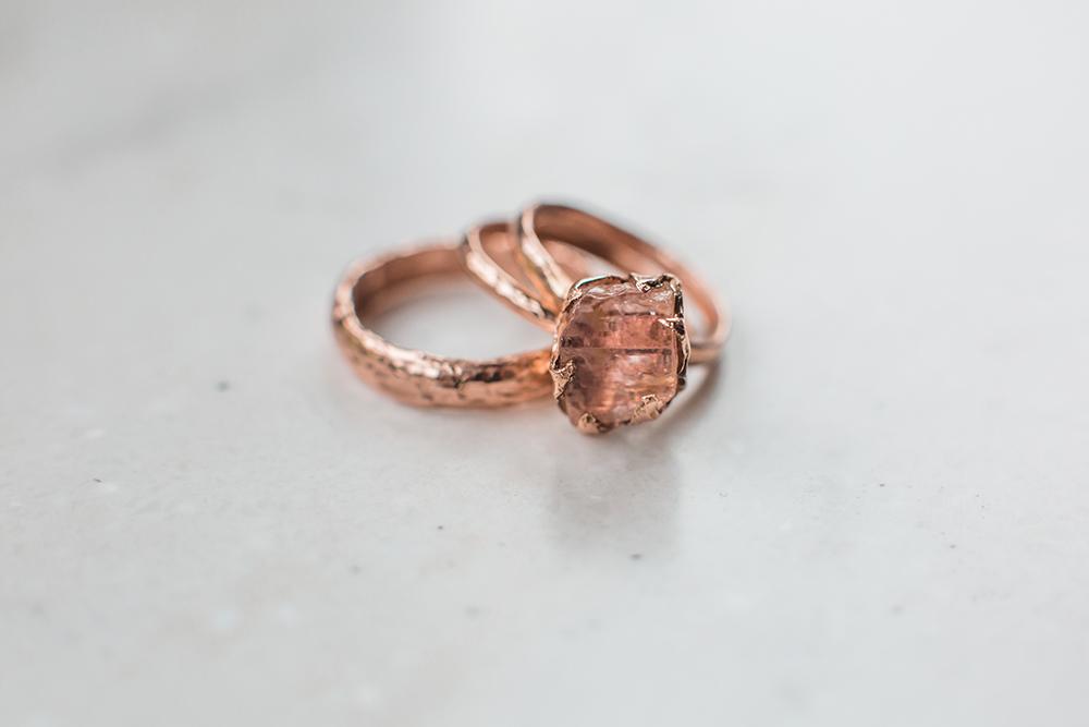 wedding rings - photo by Gina Neal Photography https://ruffledblog.com/portland-coffee-lovers-elopement-inspiration