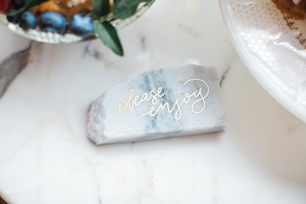 marble decor - photo by Gina Neal Photography https://ruffledblog.com/portland-coffee-lovers-elopement-inspiration
