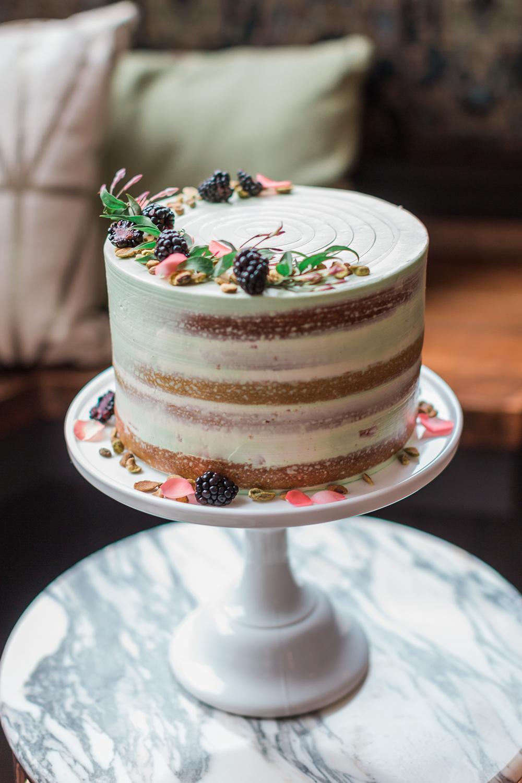 wedding cakes - photo by Gina Neal Photography https://ruffledblog.com/portland-coffee-lovers-elopement-inspiration