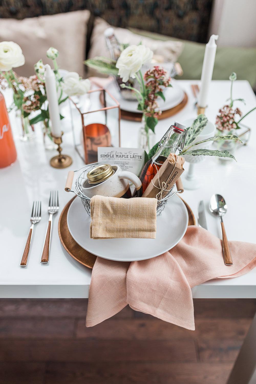 wedding place settings - photo by Gina Neal Photography https://ruffledblog.com/portland-coffee-lovers-elopement-inspiration