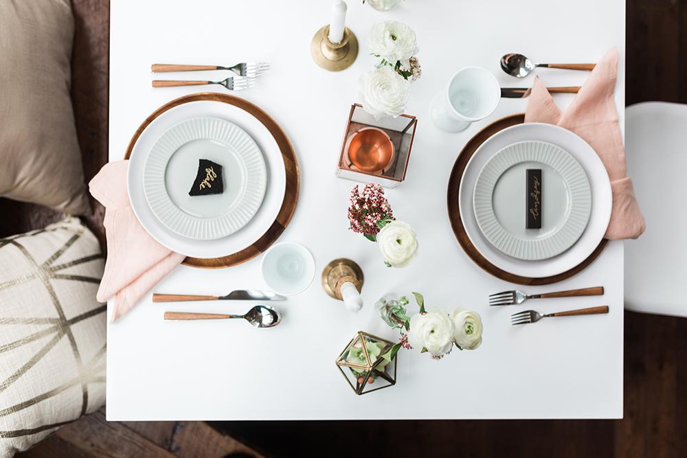 wedding tables - photo by Gina Neal Photography https://ruffledblog.com/portland-coffee-lovers-elopement-inspiration