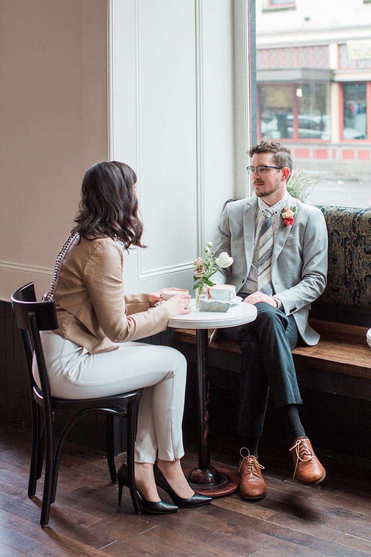 engagement inspiration - photo by Gina Neal Photography https://ruffledblog.com/portland-coffee-lovers-elopement-inspiration