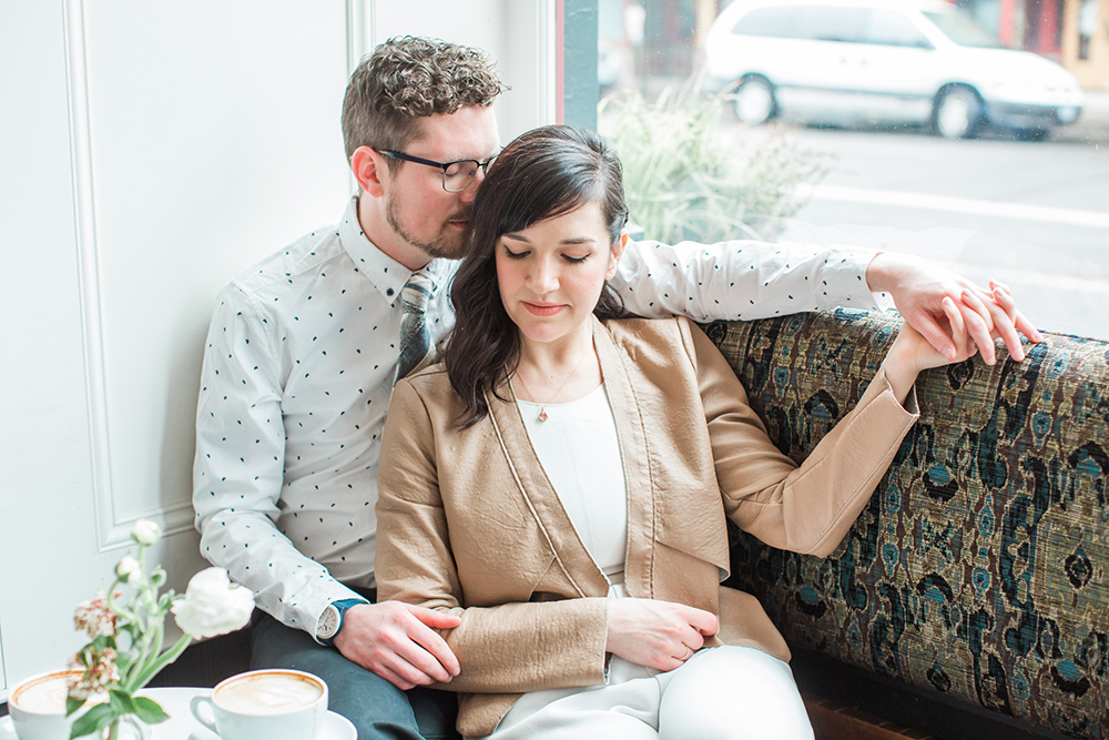 engagement inspo - photo by Gina Neal Photography https://ruffledblog.com/portland-coffee-lovers-elopement-inspiration