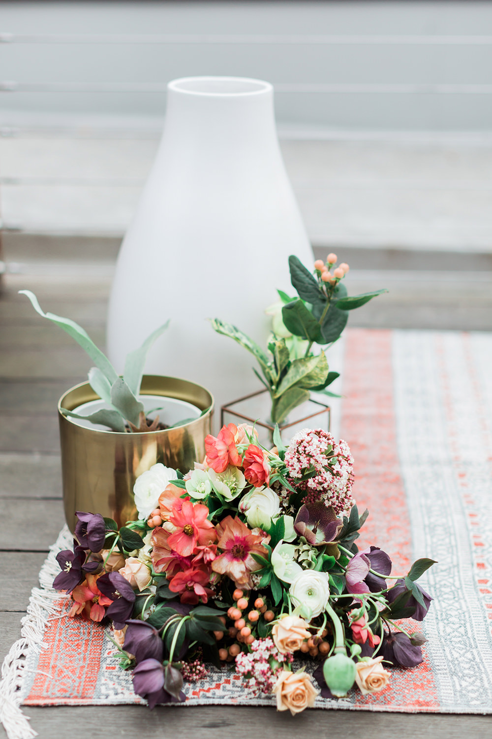 ceremony flowers - photo by Gina Neal Photography https://ruffledblog.com/portland-coffee-lovers-elopement-inspiration